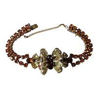 Mitchel Maer for Christian Dior 1950's bracelet in topaz and lemon toned crystal