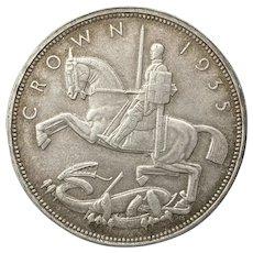 "1935 ""Rocking Horse"" Crown. George V British"