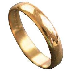 Vintage 22ct gold wedding ring