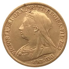 1898 Full Sovereign Coin. Victoria Old Head