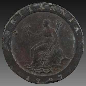 Cartwheel two pence. Georgian 2d copper coin from 1797