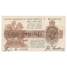 Great Britain Treasury Note, £1 1917
