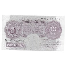 Bank of England, K.O. Peppiatt, 10s Mauve emergency issue