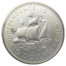 Bahamas $10 Commemorative. Celebration of independence 1973.