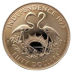 Bahamas $50 Commemorative. Celebration of independence 1973.