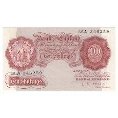 Bank Of England 10s Note, L. K. O'Brien Replacement, 1955