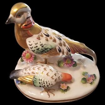 Crown Staffordshire `Golden Pheasant` by J.T. Jones