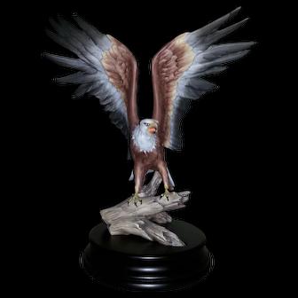Kaiser Bald Eagle #552(Color Bisque) with base