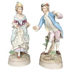 19th Century Meissen French Bisque Porcelain Figurines