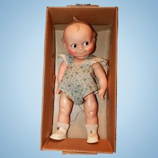 Rose O'Neill all Original Strung Jointed Vinyl 1960's Kewpie in Original Box