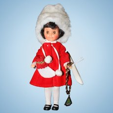 """8"""" Vinyl 1984 Jointed all Original Sunrise In America Doll """" First Christmas""""."""