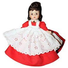 "8"" 1970's Hard Plastic Strung Madame Alexander Doll ""JO"""