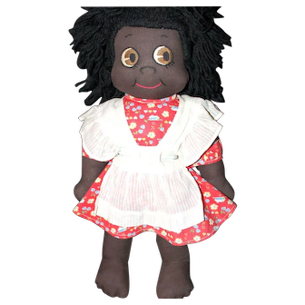 1940's Black Cloth Doll