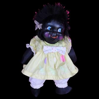 "16"" Vintage Black Doll."