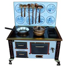Rare 1950 Metal Stove, Marked Made in Western Germany.