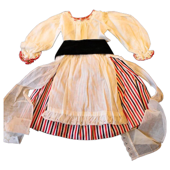 """Vintage Five (5) Piece Cotton Doll Outfit for 18"""" to 20"""" Vintage Doll."""