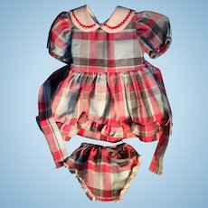 """Doll Clothes - 1940's Vintage Dress, Matching Panties for 18""""/19"""" Hard Plastic"""