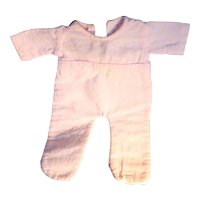 1940's DyDee and Tiny Dears Doll Pink Flannel One-Piece  Pajamas