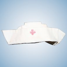 """Doll Clothes - a Cotton Doll Nurse' Hat for 12"""" to 14"""" Doll."""