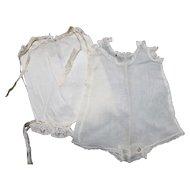 Doll Undergarments (2) for Bisque Dolls.