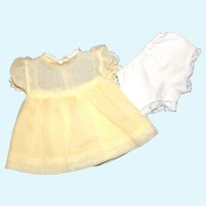 Doll Clothes - Terri Lee Soft Yellow Dress and Panties