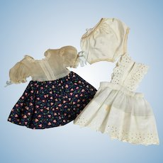 """Doll Clothes  - Factory Dress for 12"""" to 14"""" Hard Plastic Dolls."""