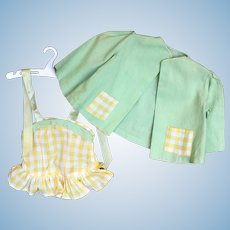 Doll Clothes - Terri Lee Tagged Sunsuit and Jacket.