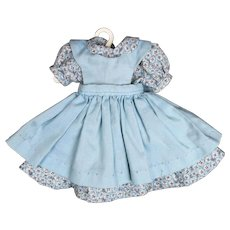 """Doll Clothes - Dress and Pinafore for 12"""" to 13"""" Hard Plastic Doll."""