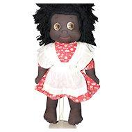 1940's Black Cloth Doll, e.c. and All Original.