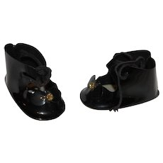 Doll Shoes of Black Patten Leather.
