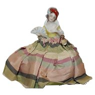"Vintage 5 ½"" Victorian Style German Half Doll Pin Cushion."
