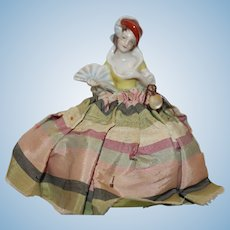 "Vintage 5 ½"" Victorian Style German Half Doll Pin Cushion."