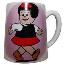 Vintage 1968 Comic Strip Nancy Musical Coffee Cup.