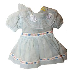 Doll Dress, Vintage, Factory 1940's/50's.