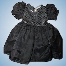 Black Satin Doll Dress.