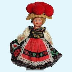 "9"" Jtd. Celluloid All Orig Doll."
