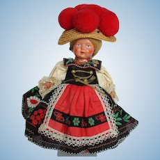"9"" Jtd. Celluloid All Orig Doll."
