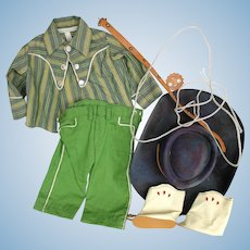 Doll Clothes, MIB Jerri Lee Cowboy Outfit, Complete and Tagged.