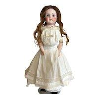"""16 1/2"""" Bisque Kestner Doll on Kid Leather Body 5 3/4 #195 Dep."""
