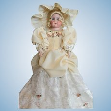 "19"" Floradora Armand Marseille Antique Bisque Doll, kid body, A 3/0 M."
