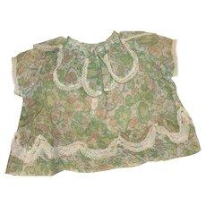 A Vintage Sheer Linen Doll Dress.