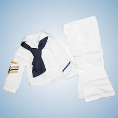 """MIB Clothes for Shirley Temple, """"Captain January Sailor Suit"""" by Danbury Mint in 1990's."""