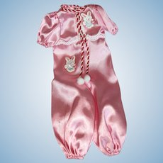 """MIB Clothes for Shirley Temple, """"Curly Top Pink Sleeper"""" by Danbury Mint in 1990's"""