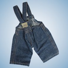Buddy Lee Doll Original Tagged Overalls.