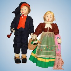 Pair of Vintage Lenci Dolls, a/o.