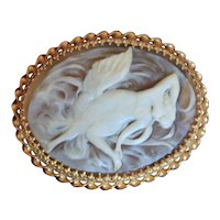 Large Cameo Combination Pin or Necklace Set in 14K Gold