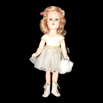 "14"" Jtd. a/o Tagged Composition Madame Alexander Sonja Henie Doll."