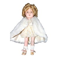 "13"" Jtd. a.o Ideal Composition Shirley Temple Doll."
