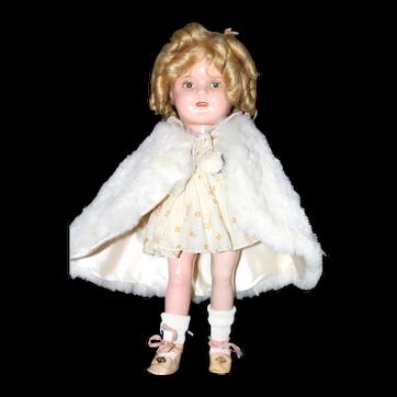 "13"" Jtd. a.o Ideal Composition Shirley Temple Doll."