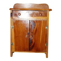 Vintage 1940's Wood Doll Dresser/Armoire.